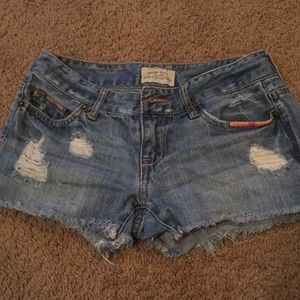 00 Aeropostale distressed jean shorts